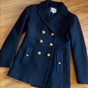 LOFT Black Wool Peacoat 00P